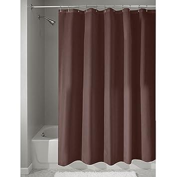 Shower Curtains chocolate brown shower curtains : Amazon.com: InterDesign Mildew-Free Water-Repellent Fabric Shower ...