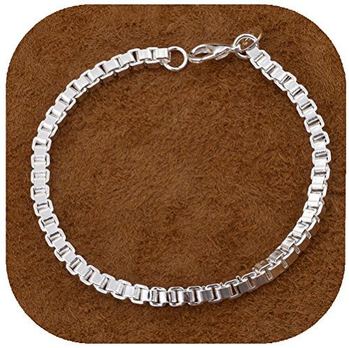 IVYRISE New Style Fashion Jewelry 925 Silver Square Chain Bracelet (925 Silver New Bracelet)