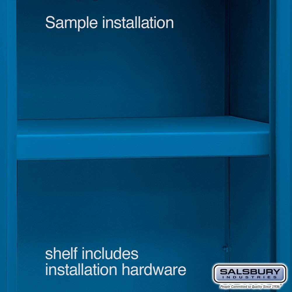Salsbury Industries Compartment Shelf for 15 by 15-Inch X-Wide Metal Locker, Blue