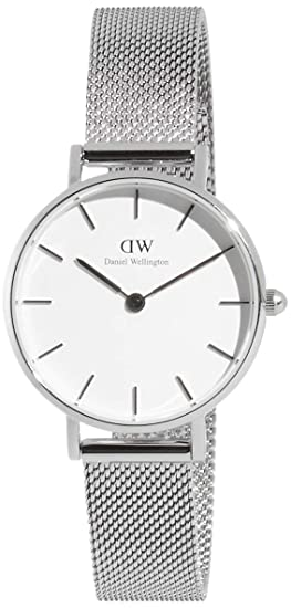 0b29047a830d28 Amazon.com: Daniel Wellington Classic Petite Sterling in White 28mm: Watches