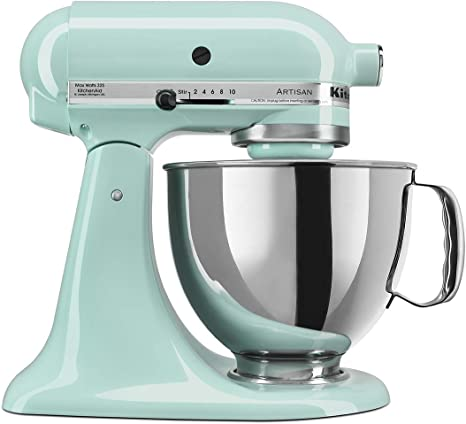 Amazon.com: KitchenAid KSM150PSIC Artisan Series 5-Qt. Stand Mixer with Pouring Shield - Ice: Electric Stand Mixers: Kitchen & Dining