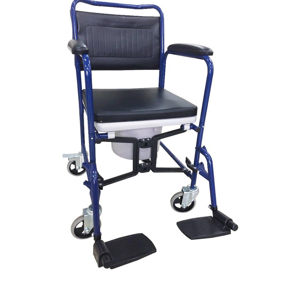 yuwell H032B シャワー用車椅子 シャワー椅子 便器付き椅子 便器付き車椅子 B07D5JSHWG