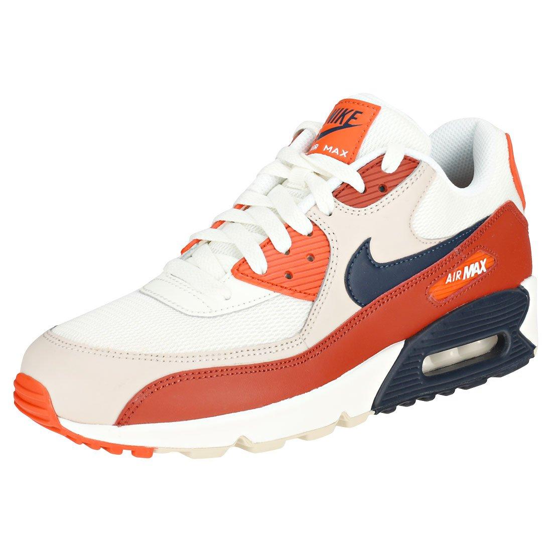 NIKE Men's Air Max 90 Essential Running Shoe B07DDMNCP3 11.5 M US|Mars Stone/Obsidian/Vintage Coral