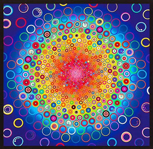 Robert Kaufman Effervescence Digital Panel Rainbow Concentric - Dot Concentric