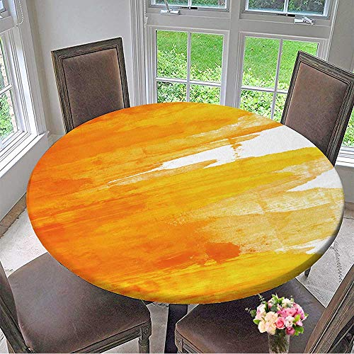 Mikihome Round Tablecloths Abstract Hand Painted Background or Everyday Dinner, Parties 55