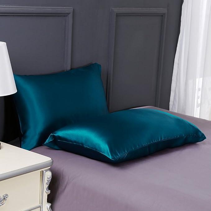 Mommesilk Luxus Kopfkissenbezug Maulbeerseide Kissenbezug mit Hotelverschluss Haarpflege 19 Momme Seide 40x60cm Taupe Verpackung MEHRWEG
