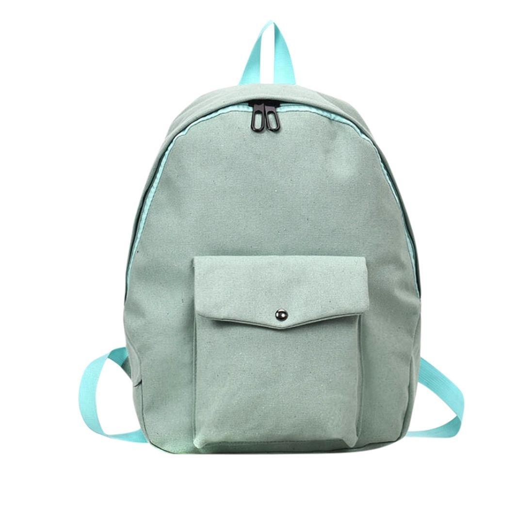 FimKaul Canvas Japan Style Minimalism Backpack Female New Leisure Travel Shoulder Bag
