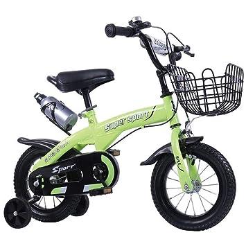 1-1 18 Pulgadas Bicicleta Niño Niña niños Ligero Freno de Disco Doble Absorción de Golpes Altura Ajustable,Green: Amazon.es: Deportes y aire libre
