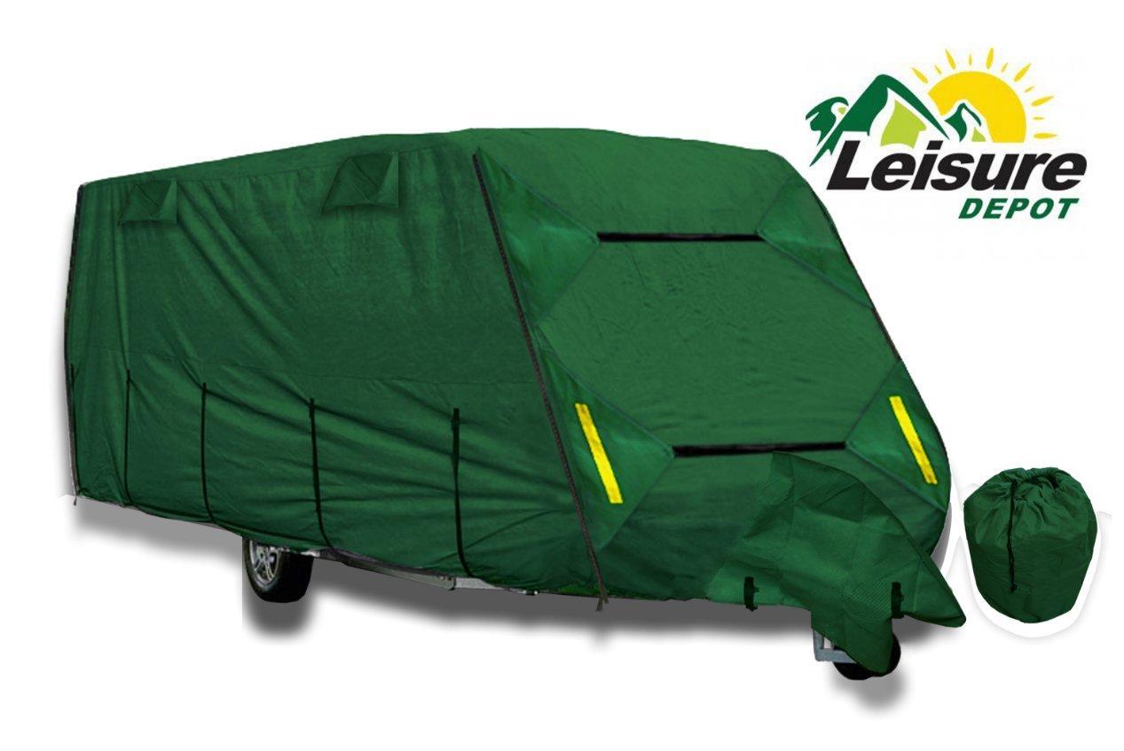 Leisure Depot Premium Caravan Cover 5.84m 17-19ft Heavy Duty 4 Ply Breathable