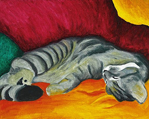 8x10 Colorful Gray Tabby Kitten Signed Cat Art Print for sale  Delivered anywhere in USA