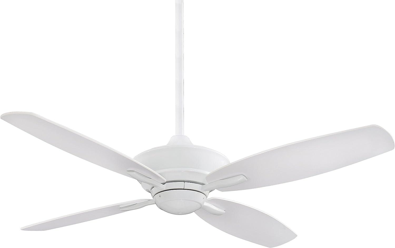 Minka F513-WH Downrod Mount, 4 White Blades Ceiling fan, White