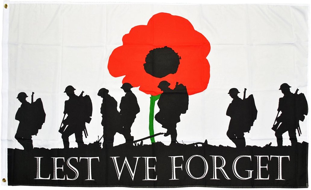 Lest We Forget (Army) Flag 5ft x 3ft UKKGC