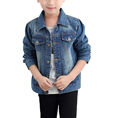 e68b8893c9fe3 Amazon.com  Baby Boys  Basic Denim Jacket Button Down Jeans Jacket Top   Clothing