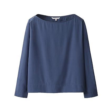 Blusa suelta de estilo universitario de manga larga de mujer de camisa de verano (Color