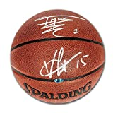 Vince Carter & Tracy McGrady Toronto Raptors Dual Signed Spalding NBA Basketball - Certified Authentic Autograph