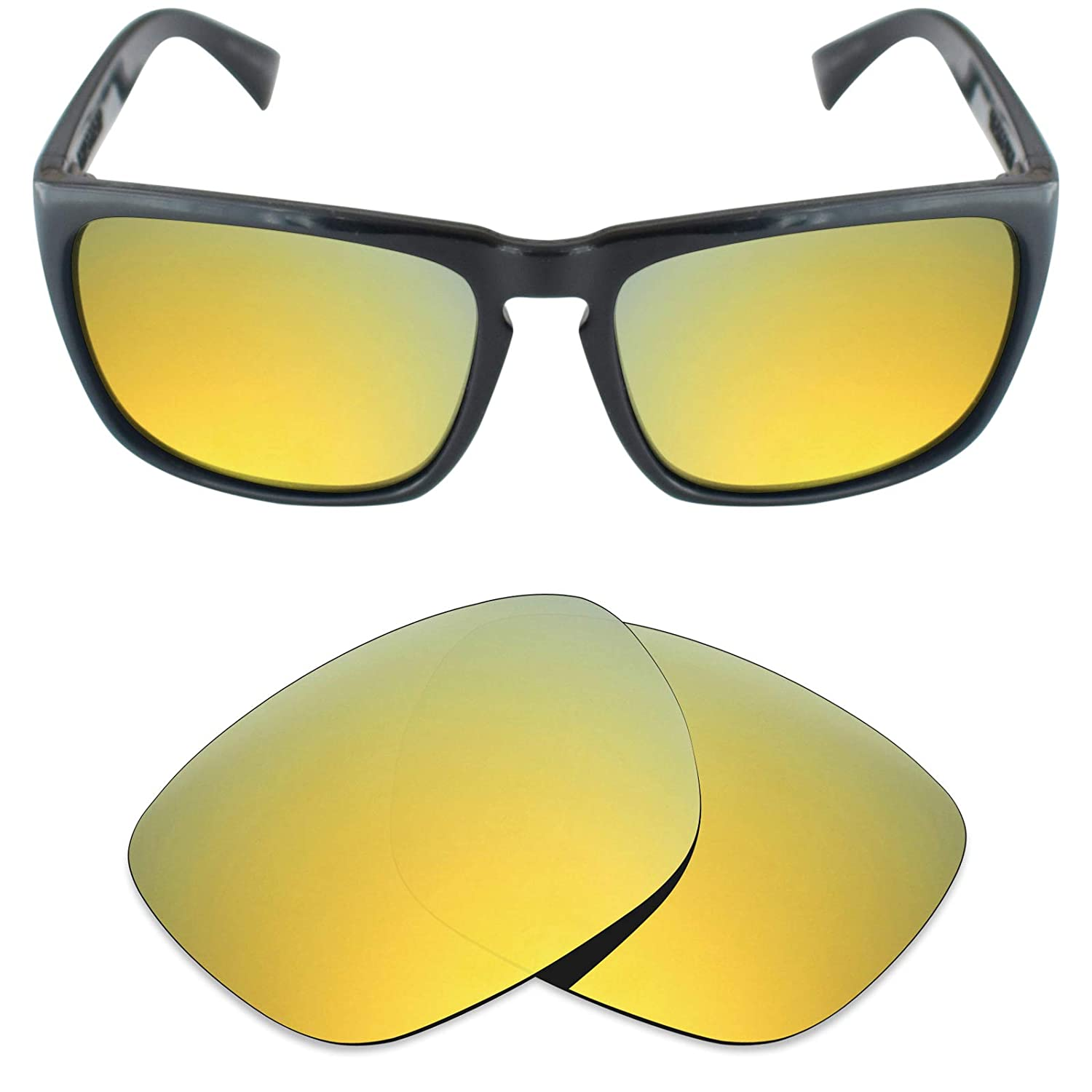 a4cea458f4c Amazon.com  Mryok Polarized Replacement Lenses for Electric Knoxville XL -  24K Gold  Clothing