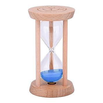 Mini reloj de arena – madera Sandglass reloj de arena temporizador, reloj de arena de