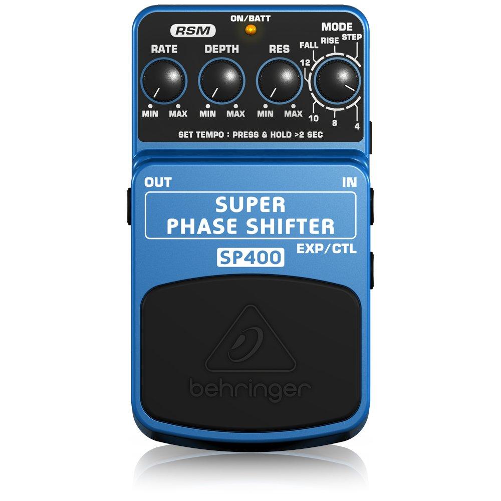 color azul Pedal de efecto phaser para guitarra Behringer SP400 4033653053273