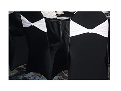 Admirable Springrose 50 Ecoluxe Black Scuba Spandex Stretch Banquet Wedding Chair Covers Caraccident5 Cool Chair Designs And Ideas Caraccident5Info