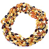 Amber Wholesale - 10 Teething Necklaces for Babies - Handmade Amber Jewelry -Genuine Baltic Amber Beads