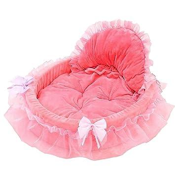 Cesta beautylife66 de princesa para perras y gatas, cama suave con cojín: Amazon.es: Productos para mascotas