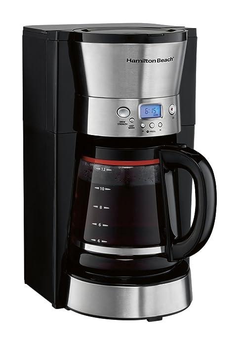 Hamilton Beach 46895 12 Cup Programmable Coffee Maker, Black