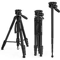 Treppiede Fotocamera Andoer Treppiede reflex Treppiedi Fotocamera con Testa a Sfera 4 sezioni Carico 4kg con borsa