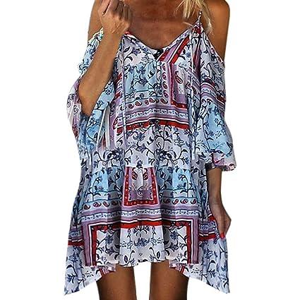 d452d1fb86070 Amazon.com: Toponly Women Off Shoulder Dress Bohemian Spaghetti ...