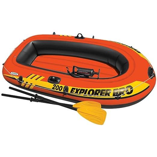 Festnight Barca Hinchable con Remos e Hinchador Capacidad Máx de Carga 120 kg 196 x 102 x 33 cm