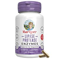 Ultra Lipase Enzymes for Liver Detox & Fat Digestion by MaryRuth's - Digestive Enzymes Supporting Healthy Cholesterol Levels and Nutrient Absorption - Vegan Lipase Protease Supplement - 60 Count