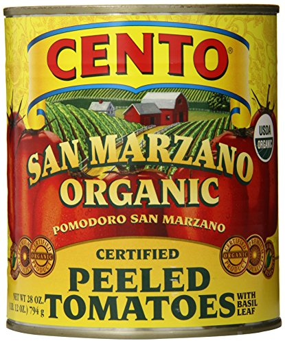 Cento San Marzano Organic Peeled Tomatoes, 28 Ounce (Pack of 6) ()