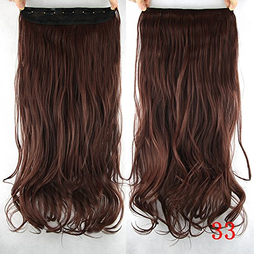 60Cm Long Synthetic Hair Clip In Hair Extension Heat, used for sale  Delivered anywhere in USA