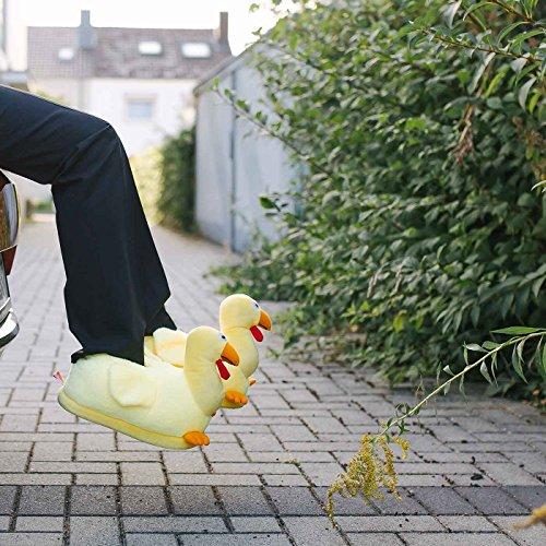 Küken Huhn Tierhausschuhe Funslippers Hausschuhe Lustig Unisex w45XqR
