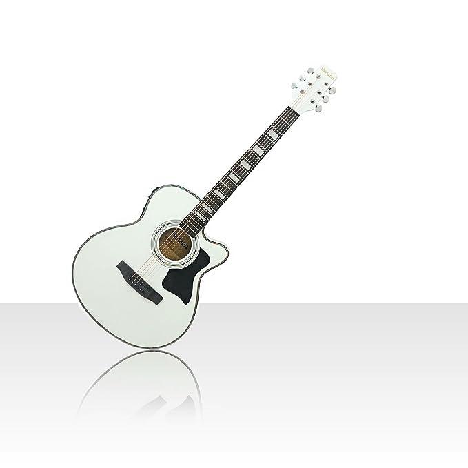 Benson S-Line eléctrico electro Semi acústica guitarra cuerpo hueco (color blanco) Fender púas y lecciones: Amazon.es: Instrumentos musicales