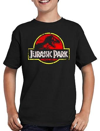 Jurassic Park Distressed Logo T Shirt Kinder Amazon De Bekleidung