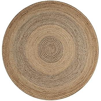 Amazon Com Nuloom Natural Hand Woven Rigo Jute Rug Round