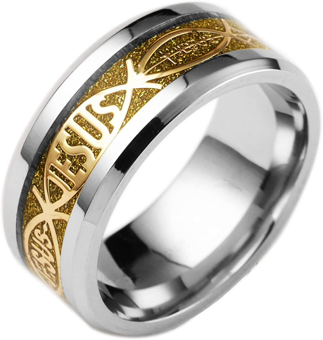 Stainless Steel Cut-out Alphabet S Link Band Ring