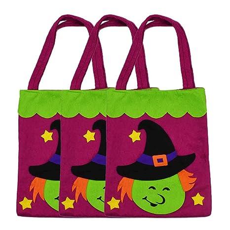 3 piezas Halloween Tote Bolsas - tamaño grande 15,5 cm ...