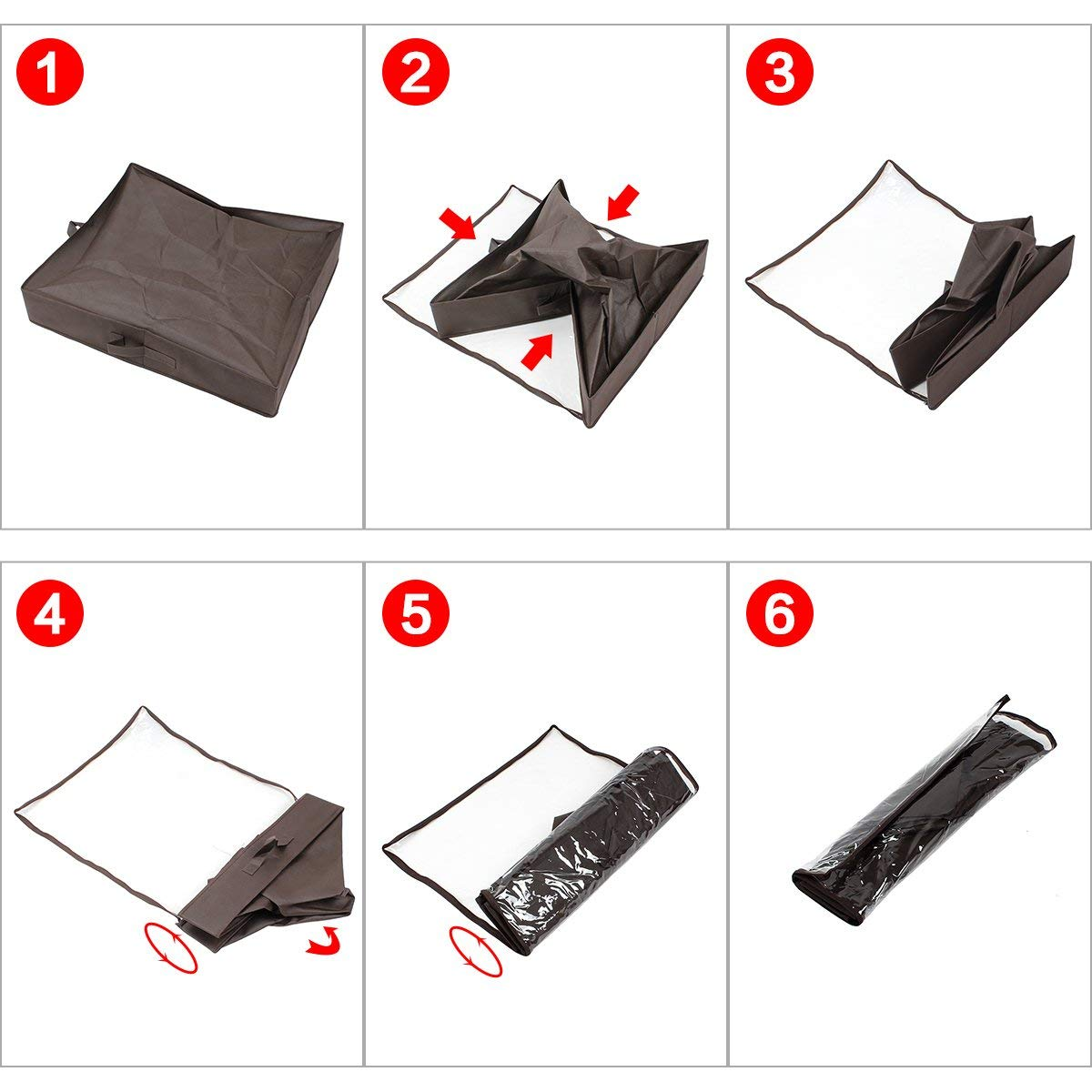 Color Marr/ón Armario Pesa 1.3kg con Cart/ón M/ás Grueso M/ás Solido-NO ENDEBLE! Zapatero Organizador de Zapatos Caja Plegable de Almacenaje de Zapatos para Debajo de la Cama