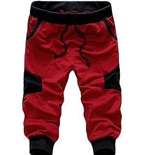 36af293f027a USGreatgorgeous Men s Casual Elastic Waist Harem Training Jogger Sport Short  Baggy Pants