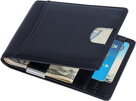 Dollarclip mit RFID-Schutz Geldbörse Geldscheinklammer feines Rindleder Herren