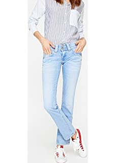 Regular Fit Pepe Jeans London Damen Jeans Vera 45YRS Blau Light Blue Denim