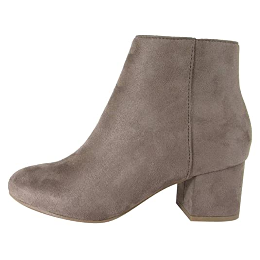 CityClassified FL22 Women's Side Zipper Wrapped Block Heel Ankle Booties