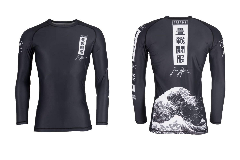 Tatami Ladies Kanagawa Long Sleeve BJJ MMA Rash Guard Black