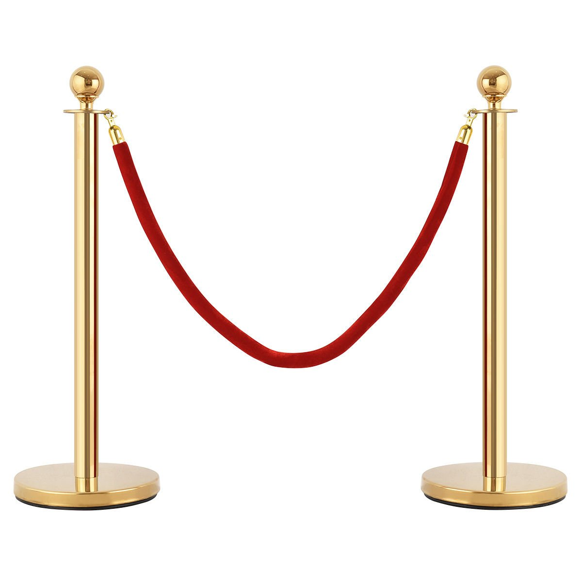 KCHEX>>>6Pcs Stanchion Posts Queue Pole Retractable 4 Velvet Ropes Crowd Control Barrier>This is our top stainless steel stanchion posts is anti-rust and flawless and the poles nice and shiny.it