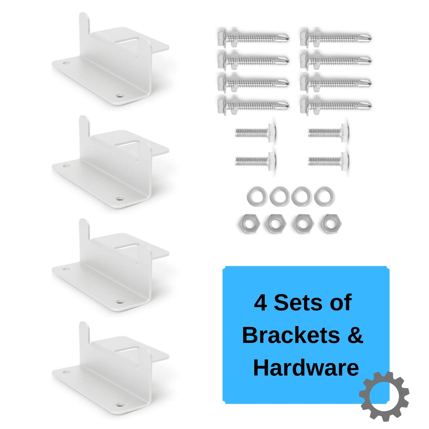Houseables Solar Panel Mounting Brackets, Roof Panels Z Bracket, 2.5'' x 1.5'' x 3.9'', 4 Sets (16 Pc), Silver, Aluminum, Adjustable Mount Bolt Kit, Accessories for Boats, Wind Generators, RVs, Trailers by Houseables (Image #4)