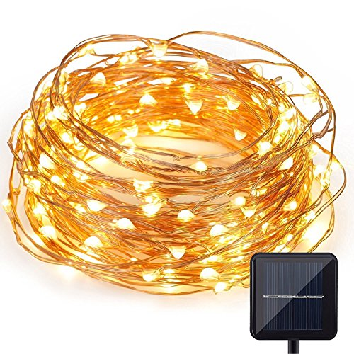 Solar Powered Christmas String Light, Kohree 120 Micro LEDs Light String With 20ft Long Ultra Thin String Copper Wire, Seasonal Decor Rope Light For Weddings, Garden, Patio, Tree, Party, (Solar Powered Fairy Lights)
