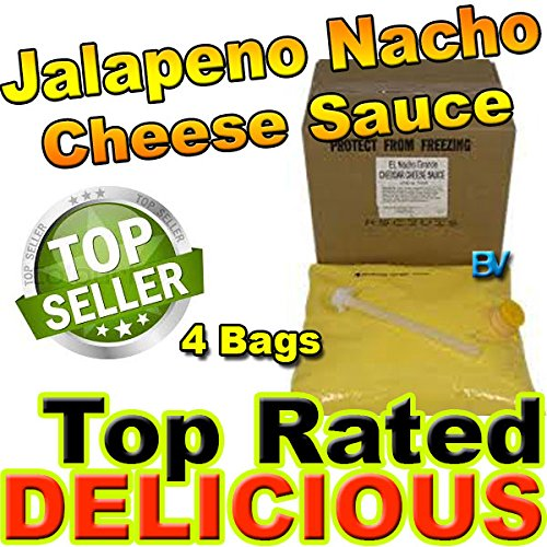 El Nacho Grande Bag - Gold Medal El Nacho Grande Jalapeno Nacho Cheese 4 bags use w/Warmer Dispenser