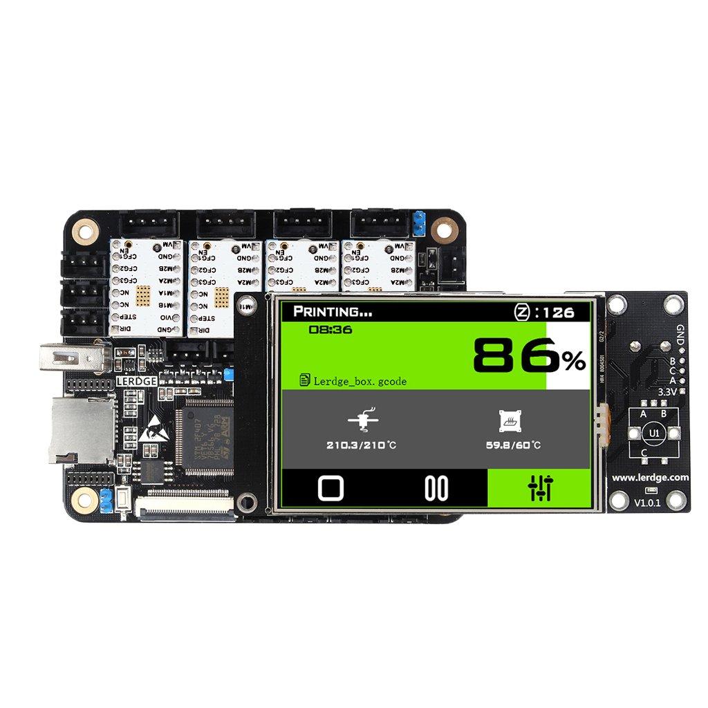 Homyl Kit de Pièces Imprimante 3D Unité de Contrôle de Base Coretx-M4 32 Bits en Conseil de Carte PCB - Blanc Jaune tmc2100