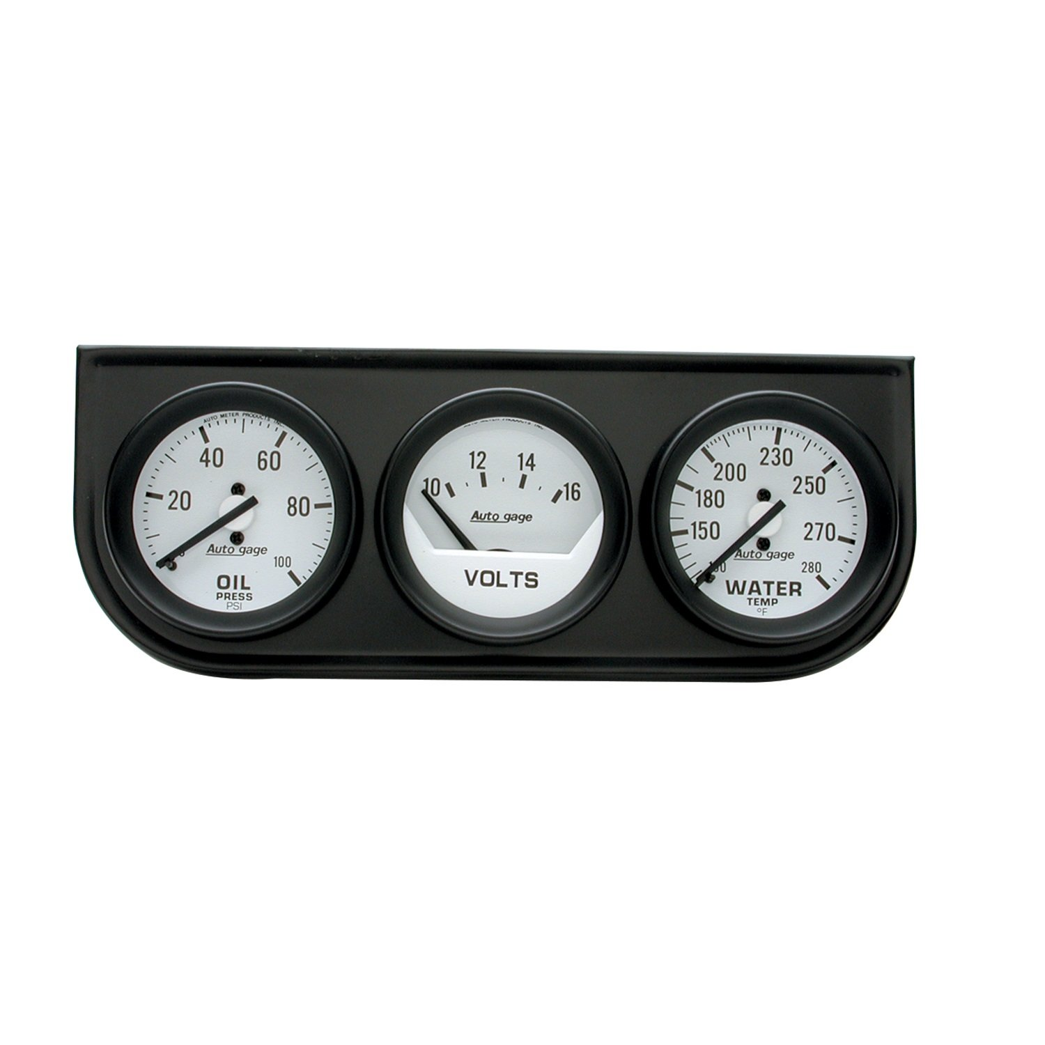 Auto Meter 2327 Auto Gage Black 2-1/16' Mechanical Two-Gauge Console